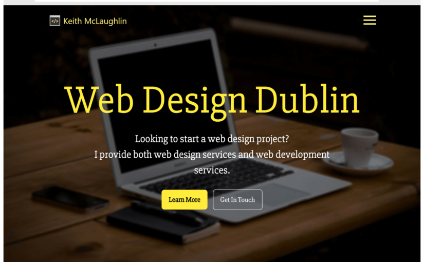 KeithMcLaughlin.ie has a new design!